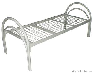кровати для рабочих, кровати металлические одноярусные и двухъярусные оптом - Изображение #1, Объявление #696174