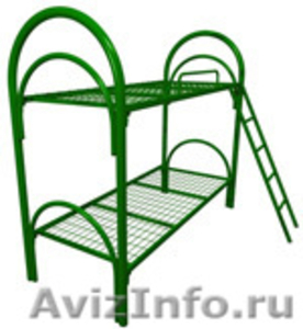 кровати для рабочих, кровати металлические одноярусные и двухъярусные оптом - Изображение #2, Объявление #696174
