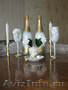 Красивое оформление к свадьбе и не только шампанского, фужеров, свечей, замочков.