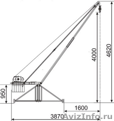 Подъемный кран на крышу
