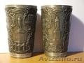 Пара юбилейных стаканов 1899 г с клеймом мастера