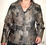 Пиджак летний 50-52 р. цвет хаки с надписями