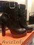 Продам шикарные ботинки ARMANI р-р 37-37, 5 натур.черн..
