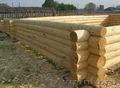 Срубы домов из точеного бревна